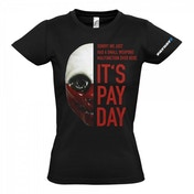 PAYDAY 2 Women's Wolf Mask Large T-Shirt, Black