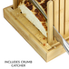 Bamboo Bread Slicer Guide With Crumb Catcher | M&W - Image 6