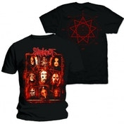 Slipknot Rusty Face Mens Black T Shirt: Medium