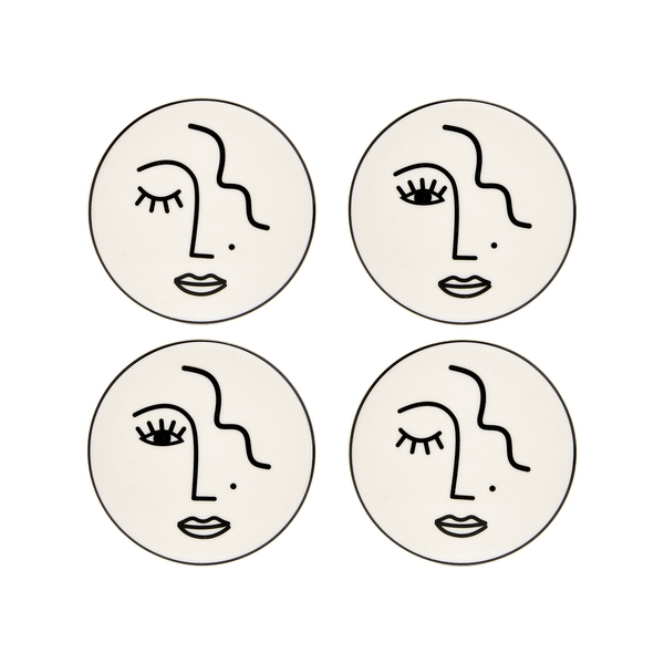 Sass & Belle Abstract Face (Set of 4) Coasters
