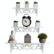 Vintage Farmhouse Style Floating Shelves - Set of 3 | Pukkr