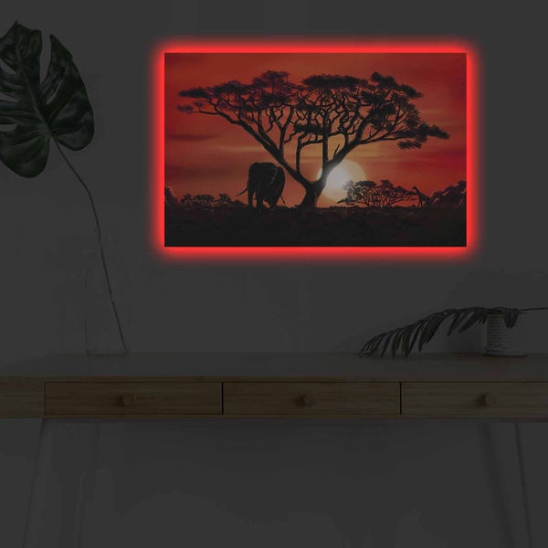 4570DHDACT-053 Multicolor Decorative Led Lighted Canvas Painting