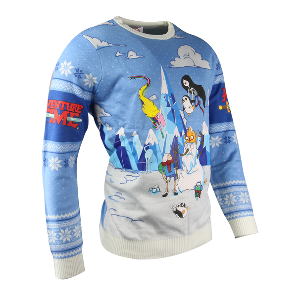 Adventure Time - Festive Winter Unisex Christmas Jumper X-Large - Image 1