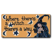 Where There's A Witch Smiley Magnet