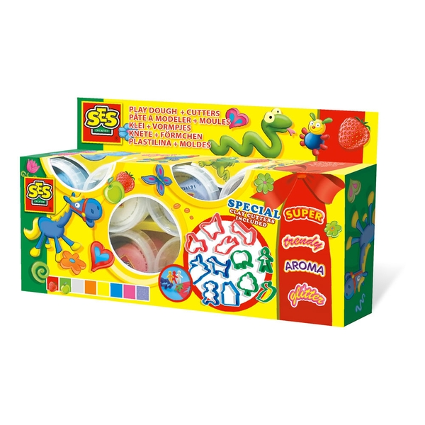SES Creative - Children's Play Dough and Cutters Set 2 to 12 Years (Multi-colour)