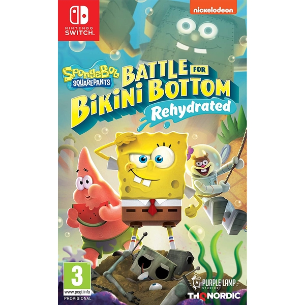 Spongebob SquarePants Battle for Bikini Bottom Rehydrated Nintendo Switch Game