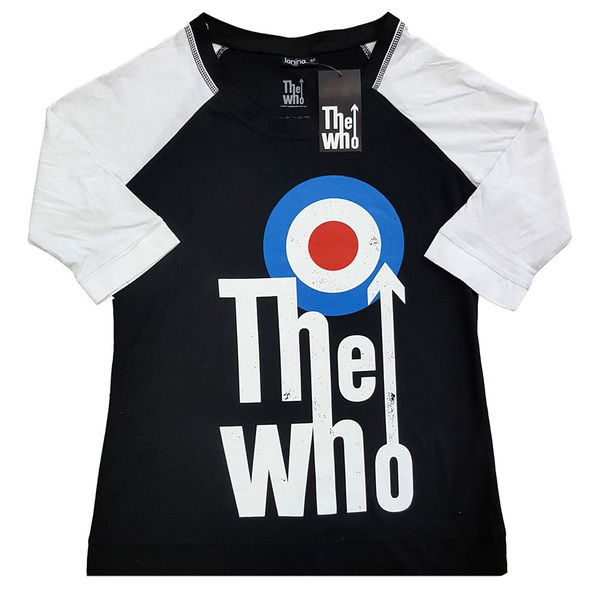 The Who - Elevated Target Ladies X-Large T-Shirt - Black,White