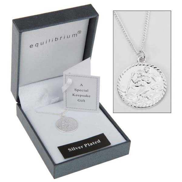 Equilibrium St Christopher Silver Plated Necklace