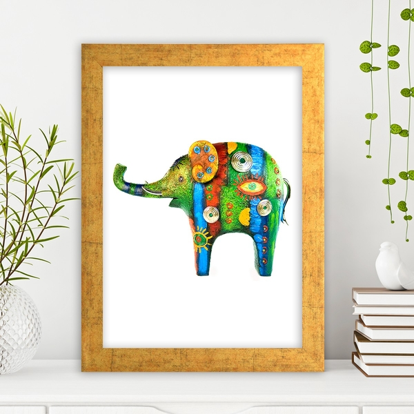 AC1932132 Multicolor Decorative Framed MDF Painting