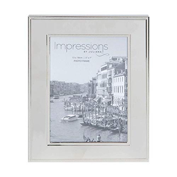 """5"""" x 7"""" - Impressions Nickel Plated Steel Photo Frame"""