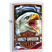 Zippo Harley-Davidson Mazzi Brushed Chrome Windproof Lighter