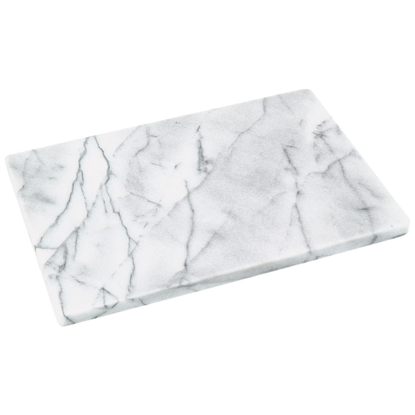 Judge Polished White Marble Board 30 x 20cm