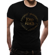 Lord Of The Rings - Gold Foil Logo Men's Large T-Shirt - Black