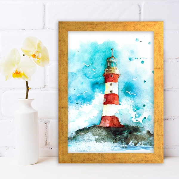 AC520260028 Multicolor Decorative Framed MDF Painting