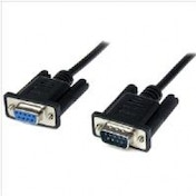 StarTech Black DB9 RS232 Serial Null Modem Cable F/M (2M)