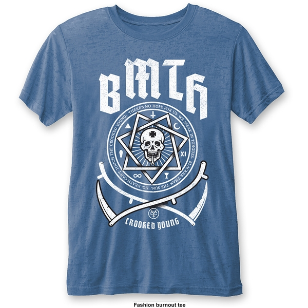 Bring Me The Horizon - Crooked Young Unisex Large T-Shirt - Blue