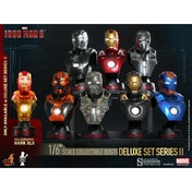 Hot Toys Set of 8 Iron Man (Iron Man 3) Series 2 Collectable Busts