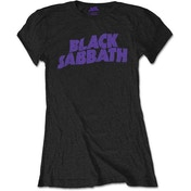 Black Sabbath - Wavy Logo Vintage Women's Medium T-Shirt - Black
