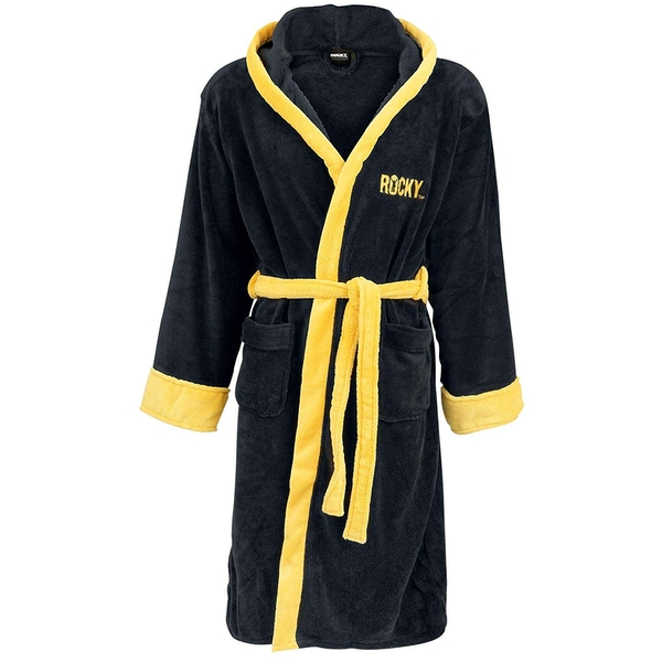 Rocky Italian Stallion Black Bathrobe