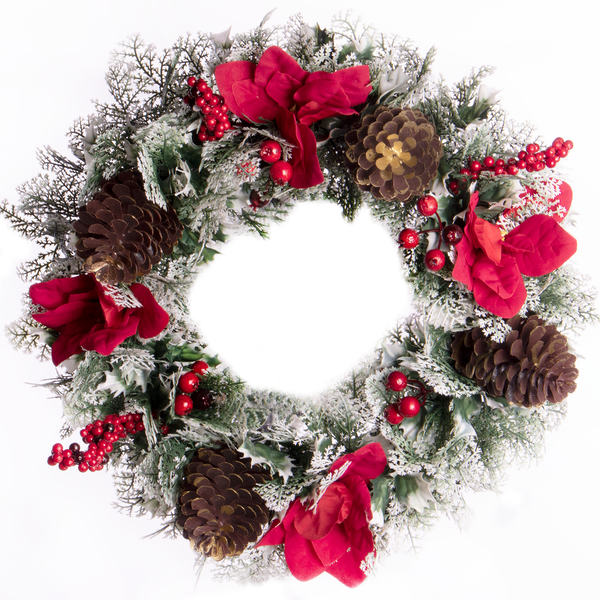 Frosted Christmas Wreath | Pukkr
