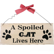 A Spoiled Cat Hanging Sign
