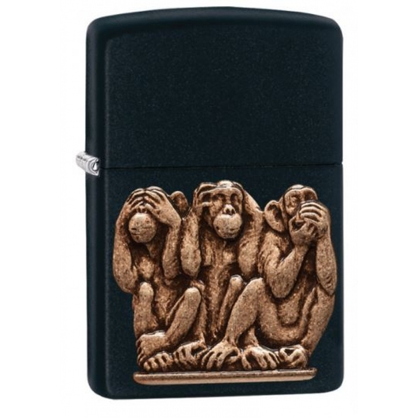 Zippo See no evil Hear no evil Speak no evil Classic Black Matte