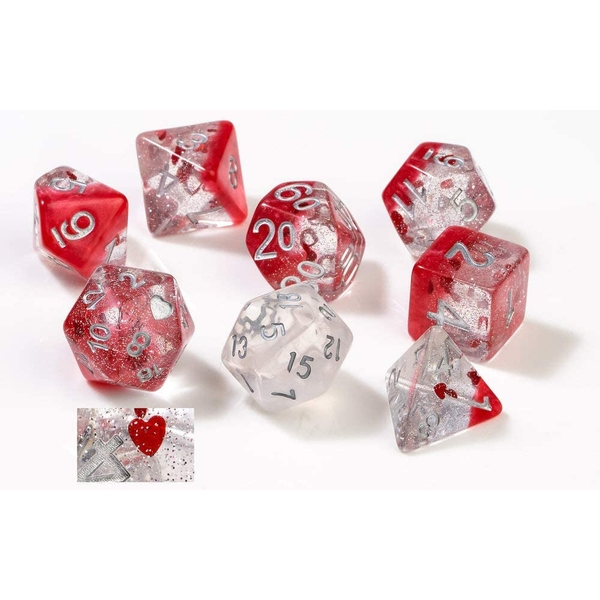 Sirius Dice - Hearts Poly Dice Set