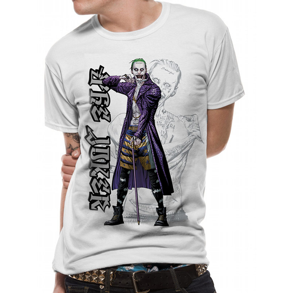 Suicide Squad Cartoon Joker Men S Large T Shirt White Shop4sg Com
