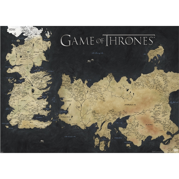 Game of Thrones - Map of Westeros & Essos Large Poster