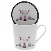 Lipstick Kisses (Jimmy the Bull) Dog Mug & Coaster Set