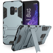 Caseflex Samsung Galaxy S9 Armour Kickstand Case - Steel Blue