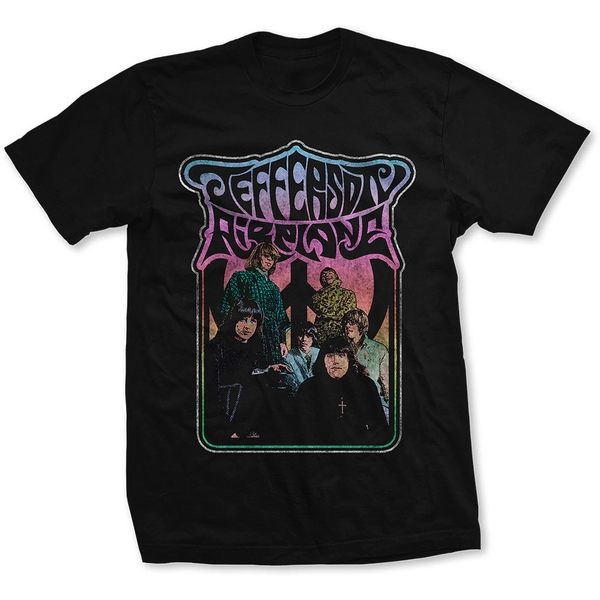 Jefferson Airplane - Band Photo Unisex X-Large T-Shirt - Black