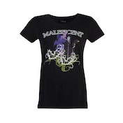 Disney - Maleficent Gel Printed Women's Large T-Shirt - Black