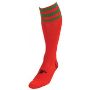 PT 3 Stripe Pro Football Socks Boys Red/Green