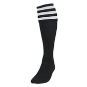 Precision 3 Stripe Football Socks Boys Black/White