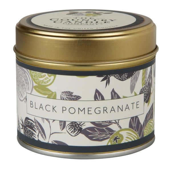 Black Pomegranate (Fragrant Orchard Collection) Gold Tin Country Candle