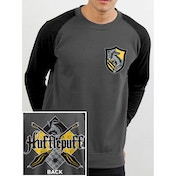 Harry Potter - House Hufflepuff Men's XX-Large Sweatshirt - Grey