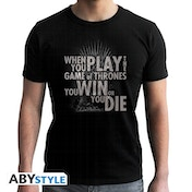 Game Of Thrones - Quote Trone - Men's Large T-Shirt - Black