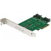 StarTech 3-Port M.2 SSD (NGFF) Adapter Card - 1 x PCIe (NVMe) M.2 2 x SATA III M.2 - PCIe 3.0