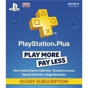 PlayStation Plus UK 90 Day Subscription Card PS3 & PS Vita & PS4 PSN Digital Download