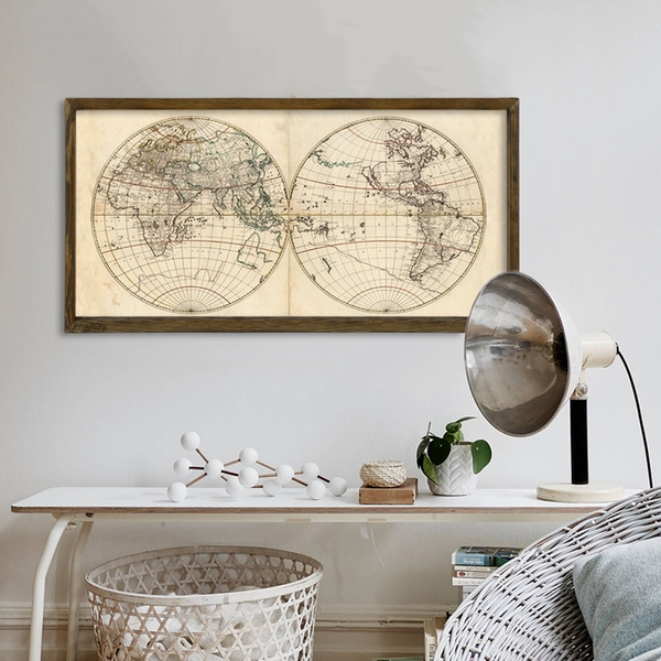 Map104 Multicolor Decorative Framed MDF Painting