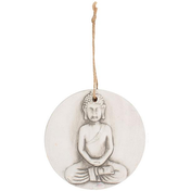 Small Round Terracotta Buddha Plaque