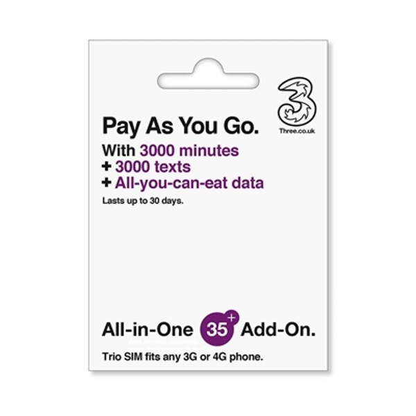 Three All in One SIM All You Can Eat - nzgameshop com
