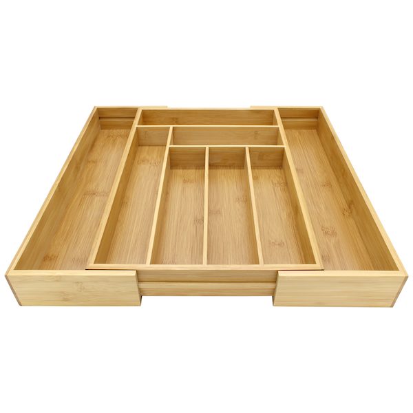 Bamboo Extending Cutlery Drawer Tray | M&W - Image 6