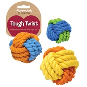 Rosewood Tough Twist Super Strong Rubber Rope Ball Dog Toy 3
