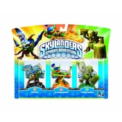 Drobot, Stump Smash, and Flameslinger (Skylanders Spyro's Adventure) Triple Character Pack A