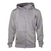 Sony Playstation - PS One Men's XX-Large Full Length Zipper Hoodie - Grey