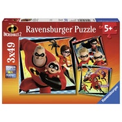 Ravensburger Disney Pixar The Incredibles 2 Jigsaw Puzzles (3 x 49 Pieces)