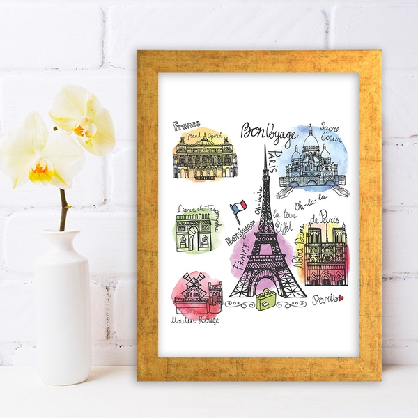 AC281336840 Multicolor Decorative Framed MDF Painting