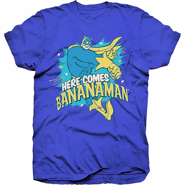 Hasbro - Here Comes Bananaman Unisex Small T-Shirt - Blue
